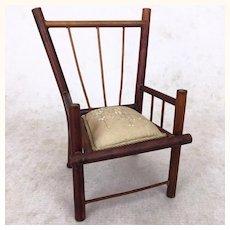Vintage miniature elegant bamboo chair