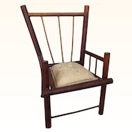 Vintage miniature elegant bamboo chair