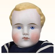 Blonde bisque head boy by Alt Beck and Gottschalk, 22 inches