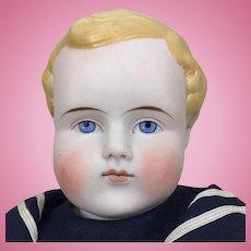 Blonde bisque head boy by Alt Beck and Gottschalk, 22 inches