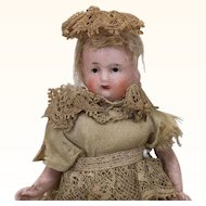 Antique all bisque miniature dollhouse doll