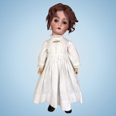 Antique German bisque head doll by Hertel, Schwab