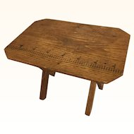 Antique miniature doll sized sewing table