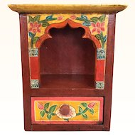 Vintage Tibetan miniature shrine cabinet