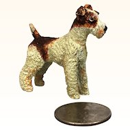 Vintage dollhouse Wire hair fox terrier