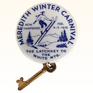 Vintage 1939 NH Winter Carnival pinback button