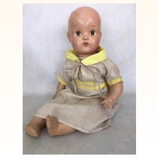 Vintage early composition mama doll and toddler legs