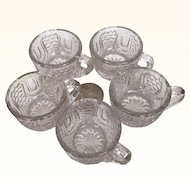Vintage miniature pressed glass punch cups