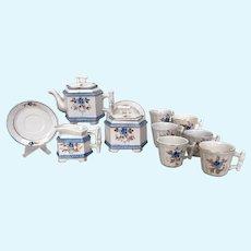 Antique miniature tea set, unusual shape