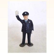 Vintage miniature figure traffic cop