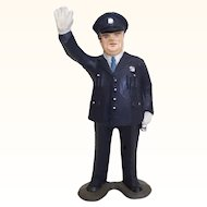Vintage miniature figure traffic cop