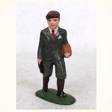Vintage Barclays schoolboy cast metal train figure