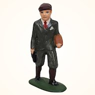 Vintage Barclays schoolboy cast metal train figure