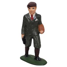 Vintage Barclays schoolboy cast metal figure