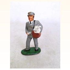 Vintage Barclays cast metal figure, mail carrier