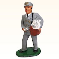 Vintage Barclays cast metal figure, mail carrier