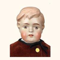 Antique German biscaloid boy doll