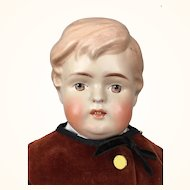Antique German biscaloid boy doll