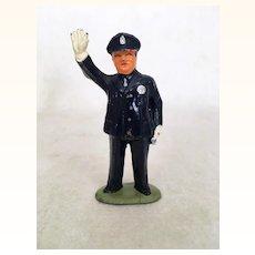 Original Barclays traffic cop cast metal figure