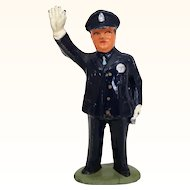 Original Barclays traffic cop cast metal figure
