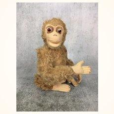 Vintage stuffed animal monkey toy, furry and sweet