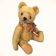 Old mohair teddy bear with growler