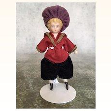 Antique miniature china head dollhouse boy