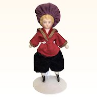 Antique miniature china head dollhouse boy