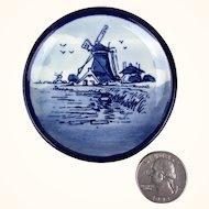 Miniature Delft porcelain plate with classic Dutch image