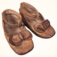 Vintage Dunbar shoes for large doll, beautiful and well made