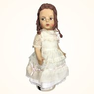 Vintage cloth doll by Eugénie Poir