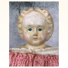 Antique papier mache blonde Ludwig Greiner doll
