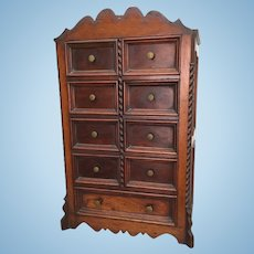Antique miniature wood cabinet