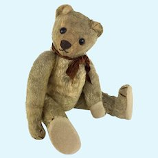 Antique mohair teddy bear with shoe button eyes