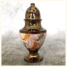Antique copper luster pepper shaker