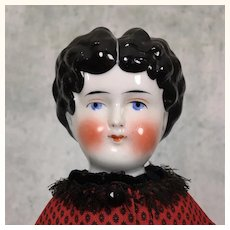 China head lowbrow doll in artist made dress