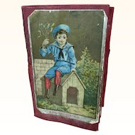 Antique Victorian folding scrapbook