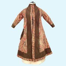 Antique doll sized morning coat