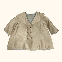 Vintage silk double breasted doll's coat