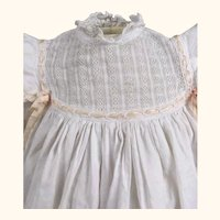 Antique gorgeous christening gown or doll dress