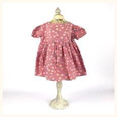 Charming vintage floral print dress for composition doll