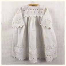 Lovely old white cutwork dress