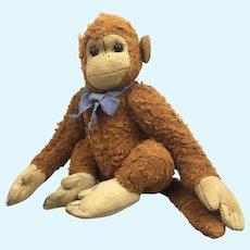 Vintage wool plush chimpanzee