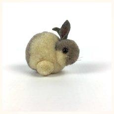 Adorable vintage tiny wool bunny rabbit