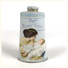 Antique Advertising tin Page Baby Talc