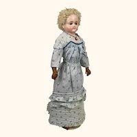 Antique Cuno & Otto Dressel papier mache beauty in fabulous dress