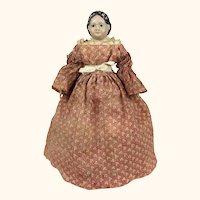 Small Antique Greiner papier mache doll