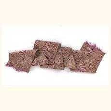 Beautiful old silk jacquard sash