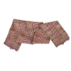Beautiful antique silk jacquard sash