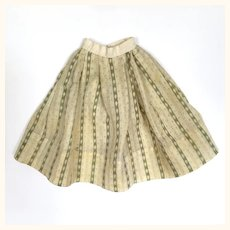 Antique wool challis doll's skirt